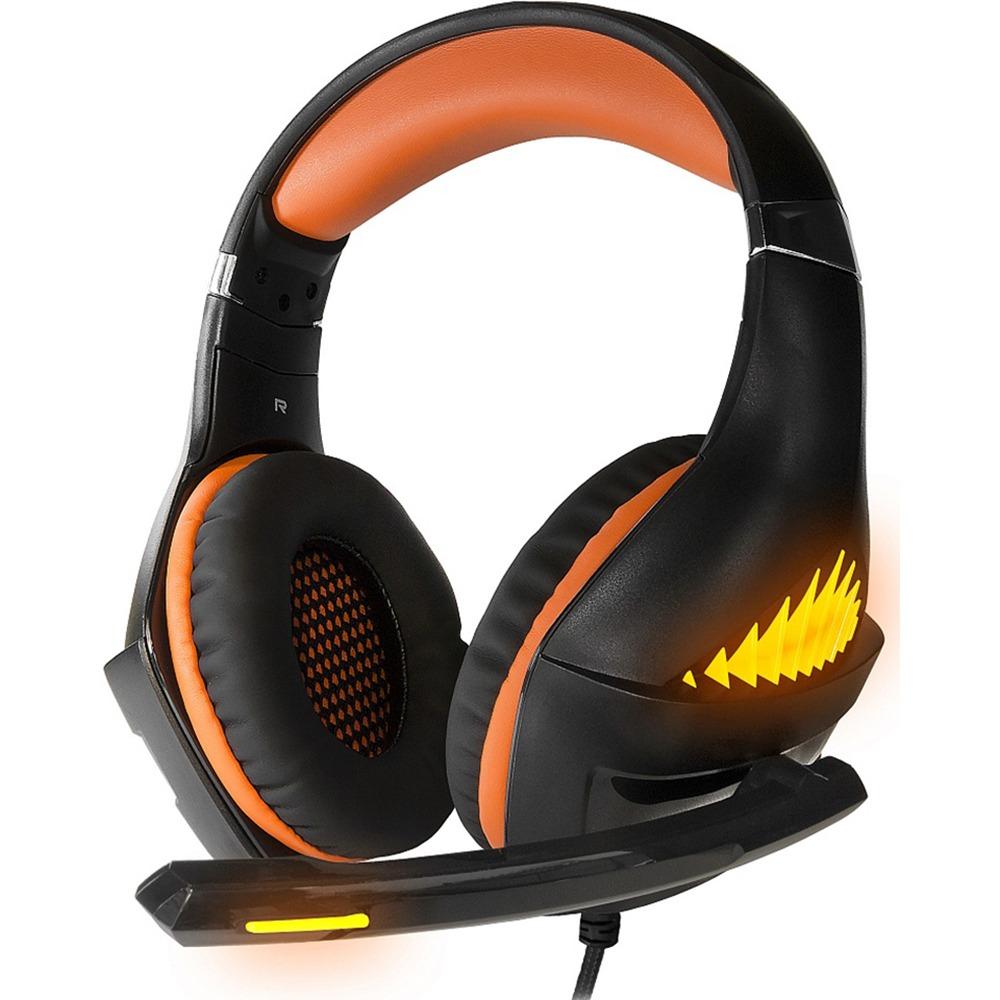 Компьютерная гарнитура CROWN CMGH-2103 Black/orange оранжевого цвета
