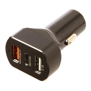 Red Line APD-3A Tech 2хUSB+USB Type-C 3 А, черный