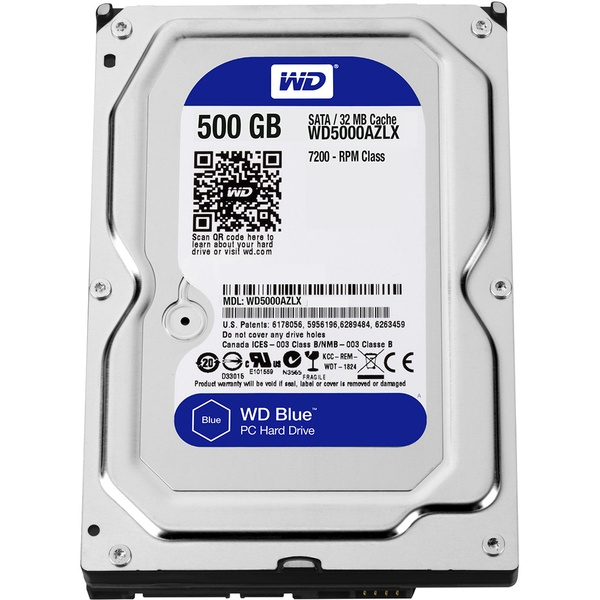 Внутренний HDD накопитель Western Digital 500GB 7200RPM 6GB/S 32MB WD5000AZLX фото