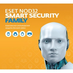 Электронная лицензия ESET NOD32 Smart Security Family на 1 год 5 ПК