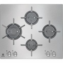 Серебристая варочная поверхность Electrolux EGU96647LX