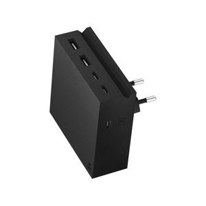 USBepower HIDE PD, 5 IN 1, 2 USB-A / 3 USB-C, Black