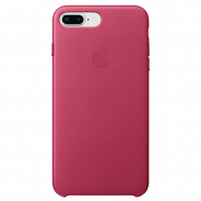 Apple iPhone 8 Plus/ 7 Plus Leather Case Pink Fuchsia