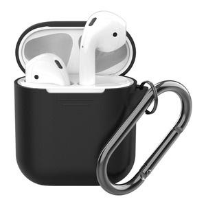 Deppa для Apple AirPods, черный силиконовый чехол
