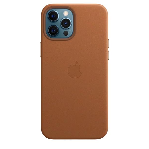 Чехол для смартфона Apple iPhone 12 Pro Max кожаный MagSafe, золотисто-коричневый