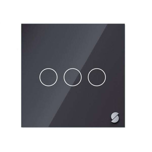 Беспроводной выключатель Sibling Powerlite-WS3B, чёрный