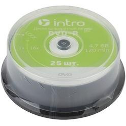 Диск INTRO DVD-R 4.7Gb, 16x Cakebox 25