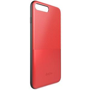 Dotfes G02 Carbon Fiber Card Case для iPhone 6/6s red