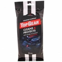 Влажные салфетки Top Gear Clean Protects для ухода за кожей