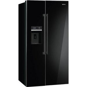 Черный Холодильник Smeg SBS63NED