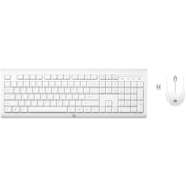 Комплект клавиатуры и мыши HP C2710 Combo Keyboard (M7P30AA), белый  - купить со скидкой