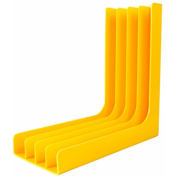 Подставка для пластинок Record Pro GK-R54Y угловая, Yellow
