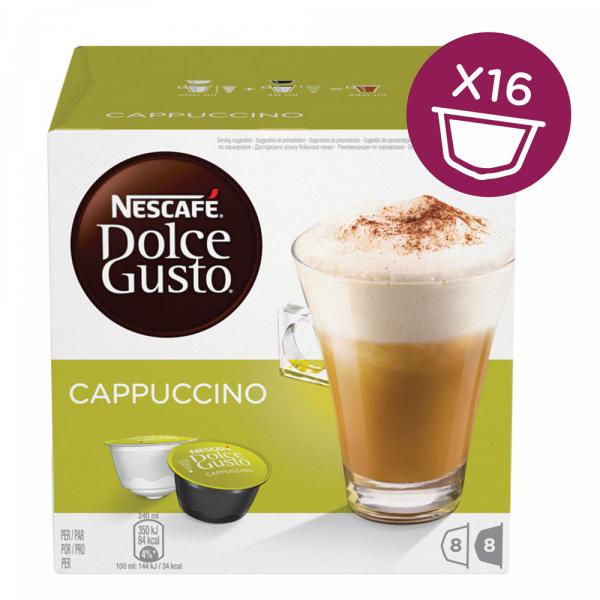 Капсулы для кофемашин Nescafe Cappuccino (16шт) фото