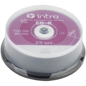 INTRO CD-R 700Mb, 52x Cakebox 25