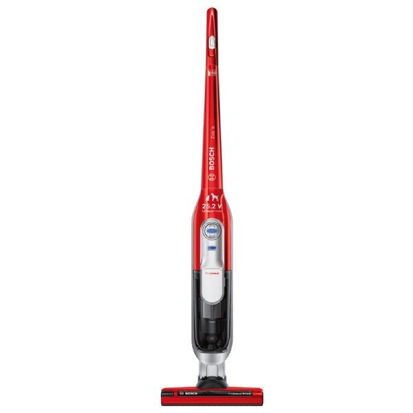 Вертикальный пылесос Bosch BCH 6ZOOO красного цвета