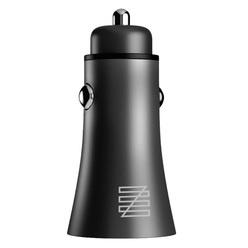 Автомобильное зарядное устройство Lenzza Razzo Metallic Car Charger MFi 2 USB, черный