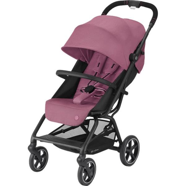 Детская коляска Cybex Eezy S+ 2 BLK Magnolia Pink с дождевиком и бампером