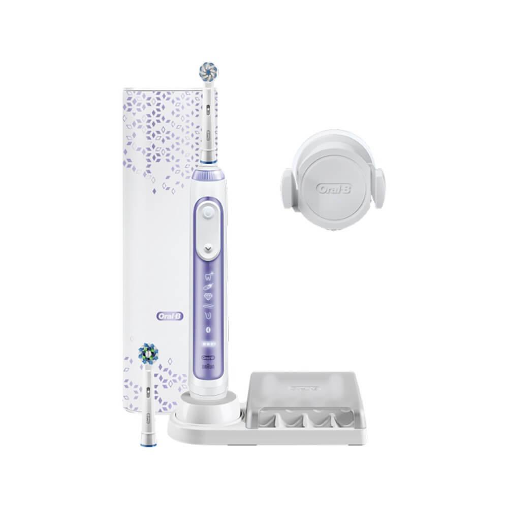Электрическая зубная щетка Braun Oral-B Genius 10000N D701.525.6XC Orchid Purple фиолетового цвета
