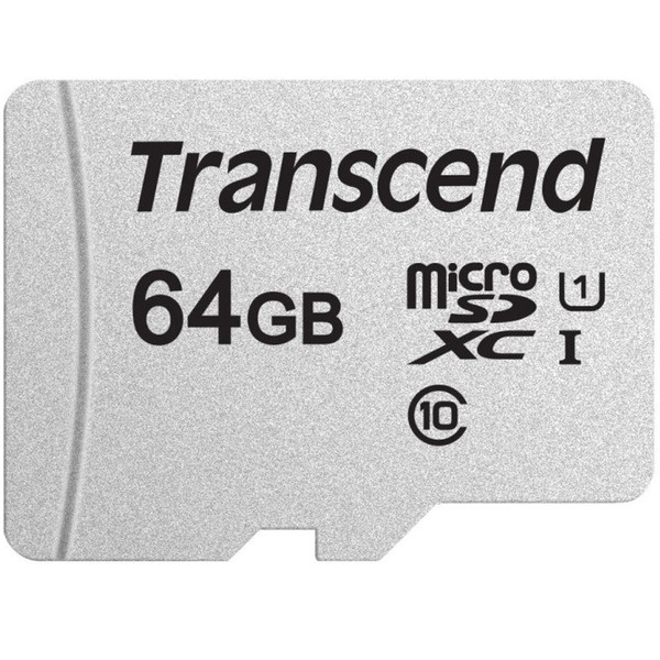 Карта памяти Transcend MicroSD 64GB UHS-I U1 (TS64GUSD300S-A)