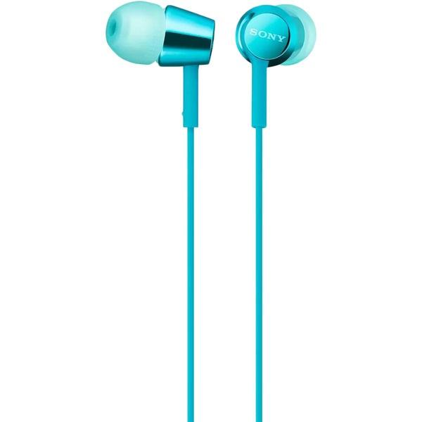 Наушники Sony MDR-EX155AP, голубой голубого цвета