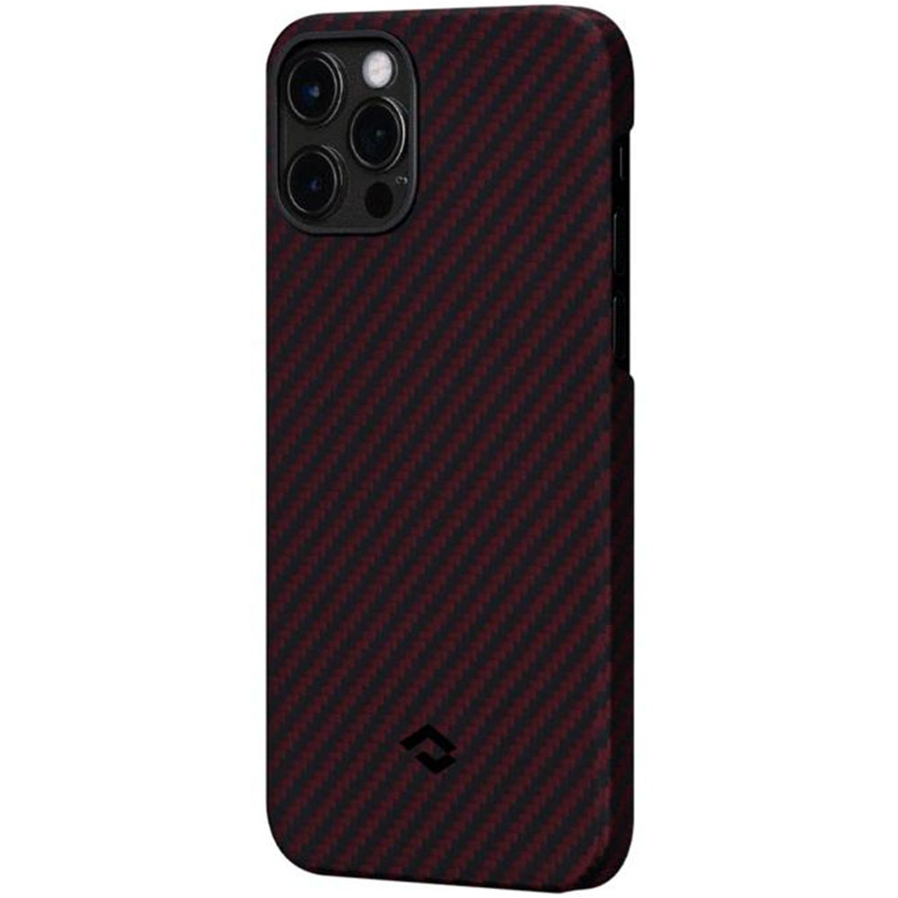 Чехол для смартфона Pitaka MagEZ KI1203P для Apple iPhone 12/12 Pro, красно-чёрный