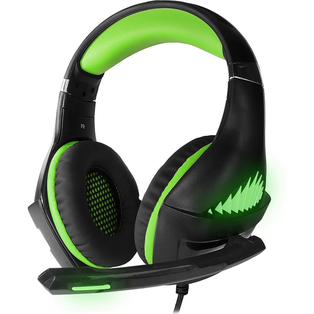 Компьютерная гарнитура CROWN CMGH-2102 Black/green цвет зелёный