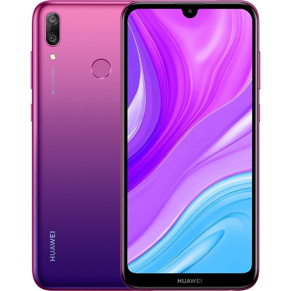 Смартфон Huawei Y7 2019 Aurora Blue, синий  - купить со скидкой