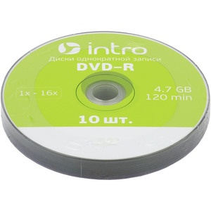 INTRO DVD-R 4.7Gb, 16x Shrink 10