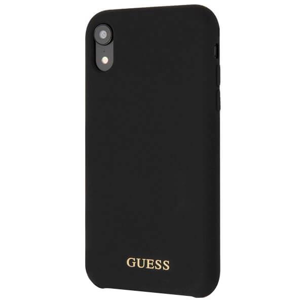 Чехол для смартфона Guess Silicone Collection Gold для Apple iPhone XR Black фото