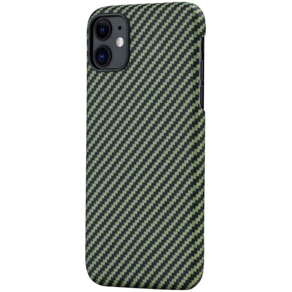 Чехол для смартфона Pitaka MagCase KI1105R для Apple iPhone 11, зелено-черный фото