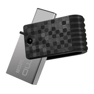 Qumo 32Gb Hybrid 2 TypeC, черный (QM32GUD3-Hyb2)