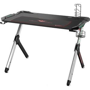 Компьютерный стол Eureka R1 S с RGB подсветкой, черный