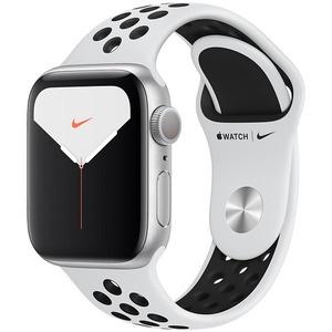 Смарт-часы Apple Watch Nike Series 5 40 мм серебристый, спортивный ремешок
