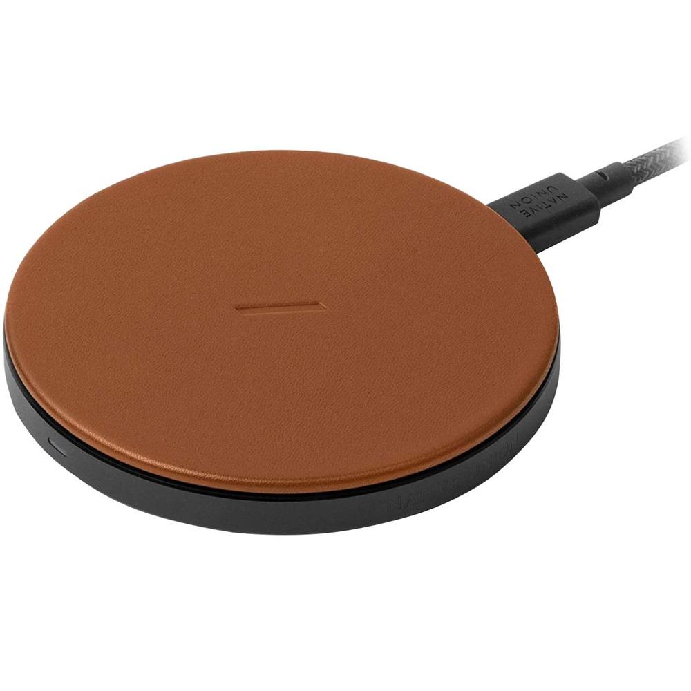 Беспроводное зарядное устройство Native Union Drop Leather 10W Brown (DROP-BRN-CLTHR-NP) Drop Leather 10W Brown (DROP-BRN-CLTHR-NP)