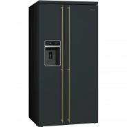 Черный Холодильник Smeg SBS8004AO Coloniale