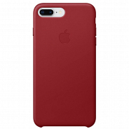 Apple iPhone 8 Plus/ 7 Plus Leather Case (PRODUCT)RED