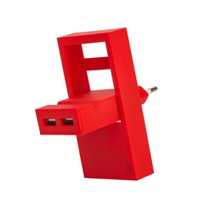 USBepower ROCK, 2 IN 1, 2 USB-A, Red