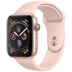 Умные часы Apple Watch Series 4  44 мм розовый песок, спортивный ремешок