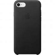 Apple iPhone 8/ 7 Leather Case Black