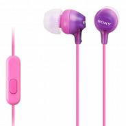 Наушники розовый Sony MDR-EX15APV, фиолетовый