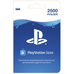 Карта пополнения кошелька PlayStation Store  2500