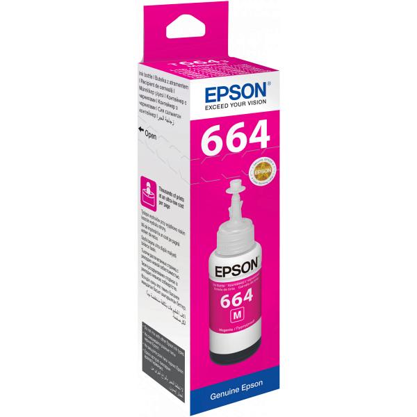 Картридж Epson C13T66434A пурпурный