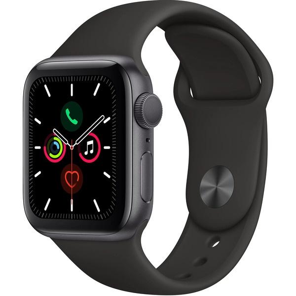 Смарт-часы Apple Watch Series 5 40 мм серый космос, спортивный ремешок