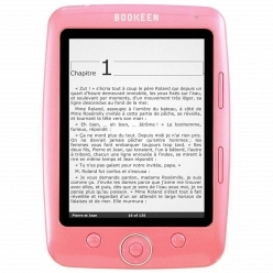 Электронная книга с tft матрицей Bookeen Cybook Opus pink + чехол