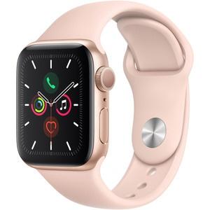 Apple Watch Series 5 40 мм розовый песок, спортивный ремешок