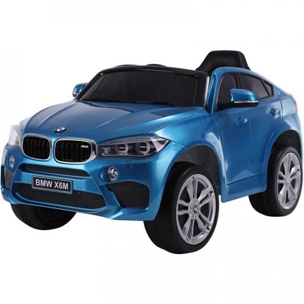 Детский электромобиль Toyland BMW X6M mini синий фото