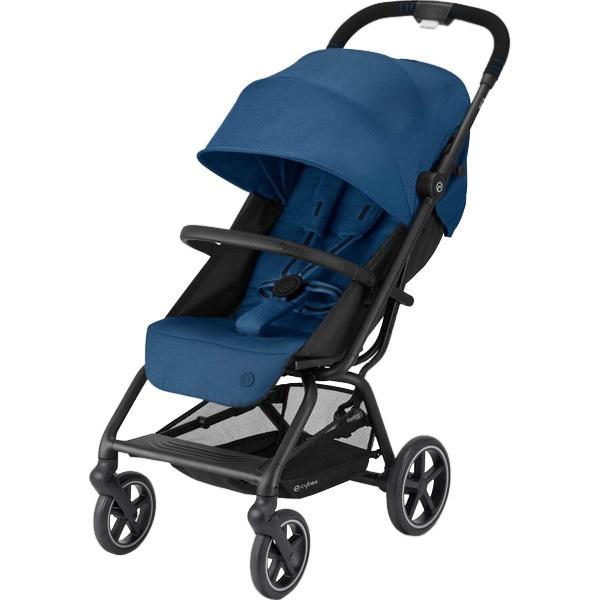 Детская коляска Cybex Eezy S+ 2 BLK Navy Blue с дождевиком и бампером