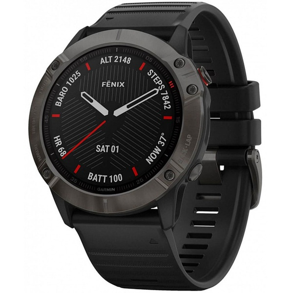 Смарт часы Garmin FENIX 6X Sapphire Gray/Black