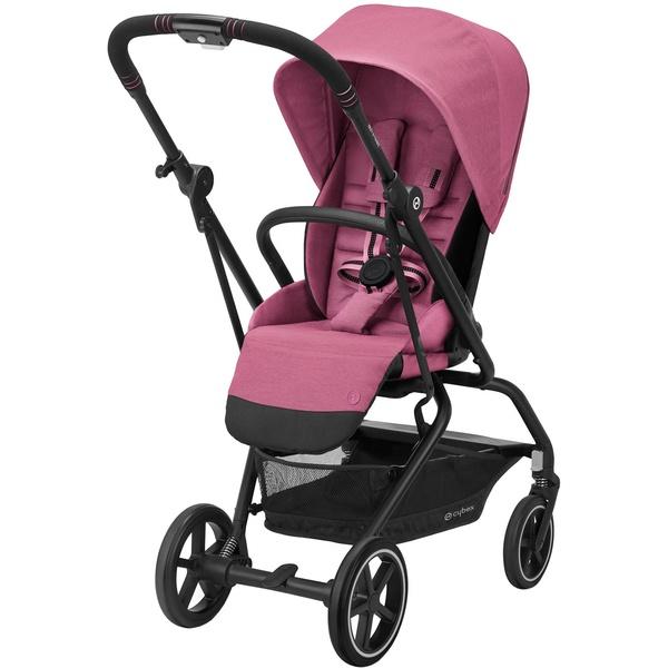 Детская коляска Cybex Eezy S Twist+ 2 BLK Magnolia Pink с дождевиком и бампером