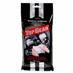Влажные салфетки Top Gear для рук, антибактериальные